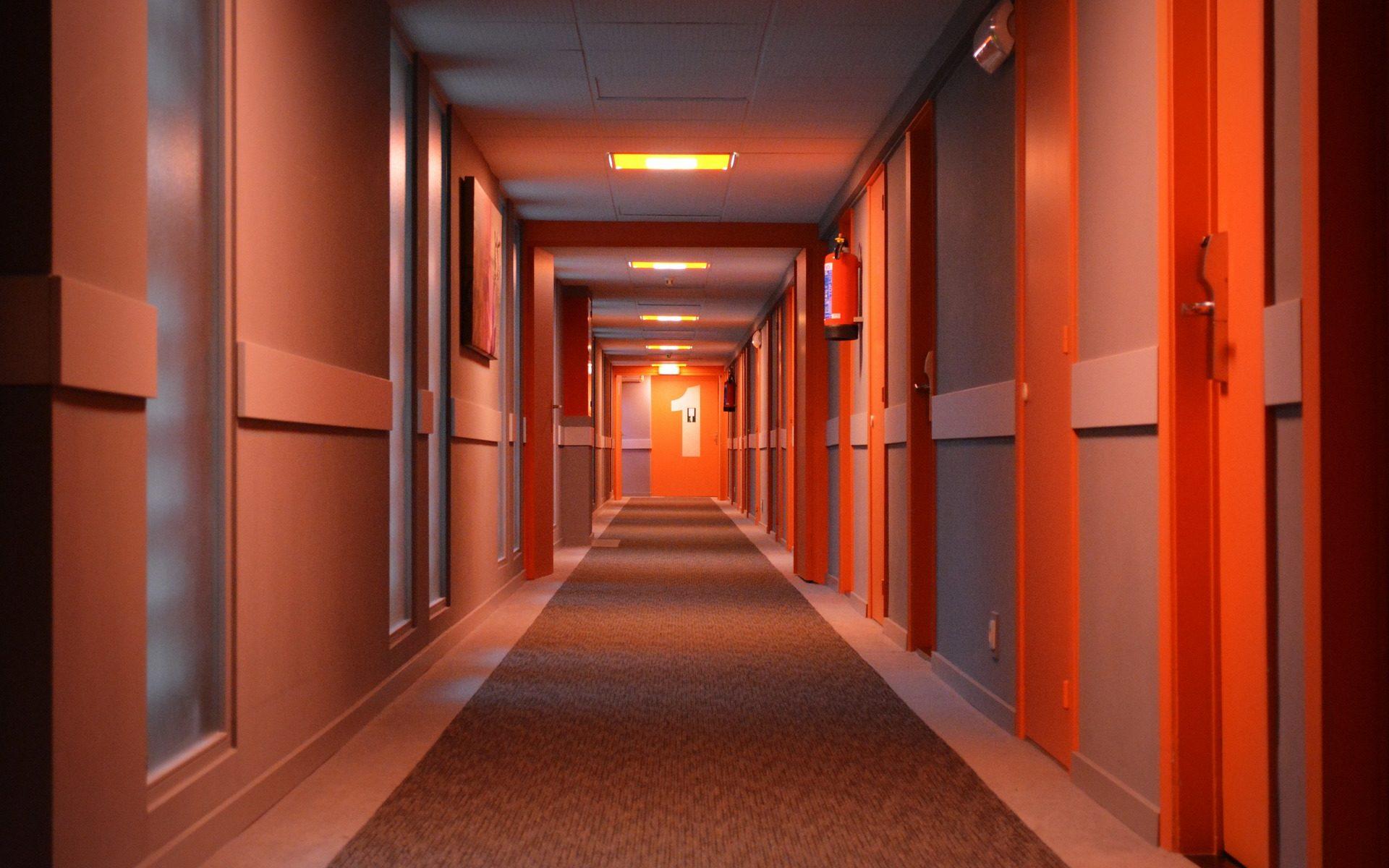 Hotel hallway 1st floor